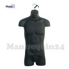 Male Hanging Mannequin Form Black Torso Body Form Hollow Back