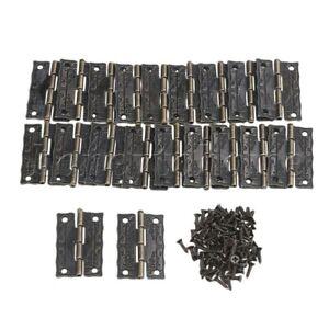 MUMA 100Pcs Mini Hinges Retro Butt Hinges Screws,for Storage Box Jewelry Chest Box Hardware Iron Hinge Color : 100 pieces-50 Pairs