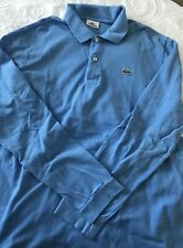 Lacoste - Men's blue long sleeve Polo Shirt - Size 6 (XL)