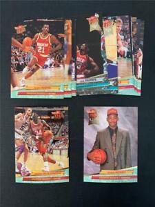1992/93 Fleer Ultra Houston Rockets Team Set 15 Cards Robert Horry RC