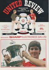 MANCHESTER UNITED v WEST HAM UNITED ~ FA CUP 5TH ROUND REPLAY ~ 9 MARCH 1986