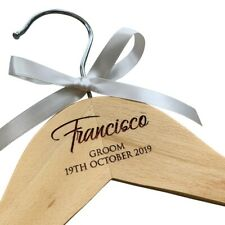 Personalised laser engraved colour filled hanger for weddings, wedding hanger