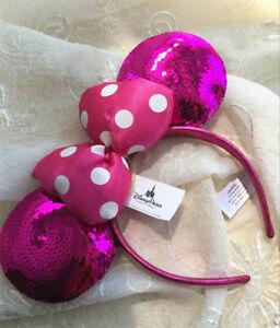 Disney Parks Minnie Mouse Headband Ears Costume Bow Hat