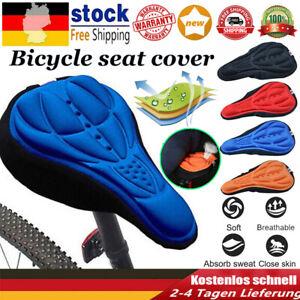 3D Gel Silikon Fahrrad Sattel Sitzbezug Polster Gepolstert Komfort Weich Kissen