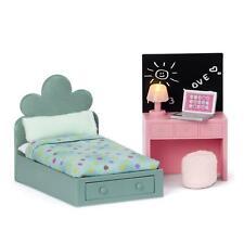 Lundby Dolls House Teen Bedroom Furniture Set Modern Bed & Desk