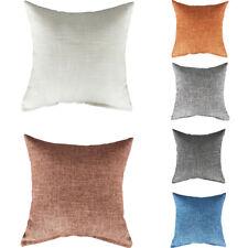 Solid Color Cotton Linen Pillowcase Pillow Case Cushion Cover Sofa Waist Throw