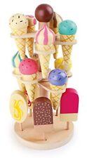 Beweglicher Eisständer, Kaufmannsladen Zubehör aus Holz, 15 Eissorten am St