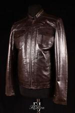 giacche da moto da uomo marrone , Taglia XL