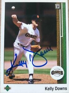 Kelly Downs Autographed 1989 Upper Deck #476