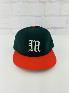NWOT Vintage Miami Hurricanes New Era Pro Model Wool Fitted Hat Cap Size 7 3/8