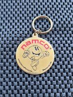 Vintage Namco Funcrafters Pacman Keychain medal Rare Retro 1991 Golden Brass NES
