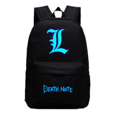Anime Death Note L Backpack School Bag Sport Travel Laptop Bags Luminous Black