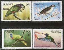 Dominica 1984 WWF Birds Parrot Warbler Wildlife Fauna Sc 827-30 MNH # 009