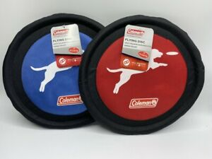 """Set Of 2 Coleman 10"""" Flying Disc Frisbee Dog Toys All Season Strong Floats New"""