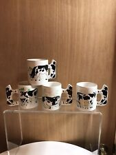 Grazing Holstein Cow Coffee Mugs With Cow Shaped Handle Set Of 4