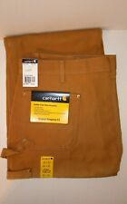 Carhartt Double-Front Work Dungarees Original Fit B01 Brown Pants