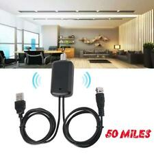50 Miles TV Antenna Signal Amplifier Booster Digital Antenna HD Channel 25DB