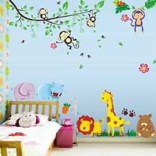 DESIGNE-GIRAFFE / Monkey / Orso / RABIT BABY / KID Nursery parete Adesivo Decalcomania