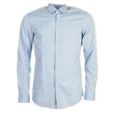 "HUGO BOSS Shirt Blue Cotton Slim Fit Size 39cm / 15.5"" Collar RRP £129 TR 272"