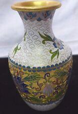 Kleine Emaille-Cloisonne´-Enamel Vase Reliefdekor