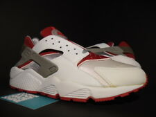2001 NIKE AIR HUARACHE LE RUN WHITE RED COOL GREY OG 609020-161 NEW 11.5