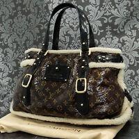 Rise-on  LOUIS VUITTON MONOGRAM Shearing Thunder Handbag Tote bag #1