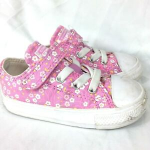 Converse All Star Toddler Little Kids Shoes Size 6 Pink Flowers