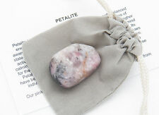 Pink PETALITE tumbled stone Gemstone with pouch size Extra Small  <2 g