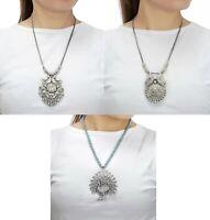 Designer Necklace Tribal Set Oxidized statement Silver Women Jewelry Set