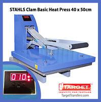 """Heat Press - Stahls Clam Basic Transfer Press 16"""" x 20"""" (40cm x 50cm) **NEW**"""