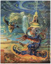 La triptamina sogni da Callie Fink Psichedelica blotter ART 450 quadrati allucinogeni