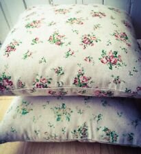 Handmade Roses 4.Red & 3.Yellow LINEN Cotton Cushion Cover. Various sizes