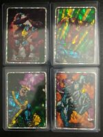1992 Marvel Masterpieces X-Men Vending Prism Stickers 4 Card Lot Pristine RARE