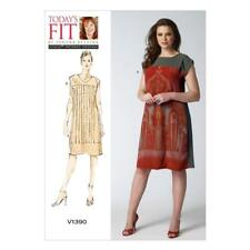 Vogue Sewing Pattern V1390 Misses Loose-Fitting Tunic Dress Sizes 8 - 26 New