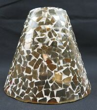 Handmade Mosaic amber glass Mid Century deco lamp shade Ambria made in India