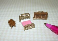 Miniature Tiny 1:144 MASTER Bedroom Set for Dollhouse's Dollhouse Miniatures