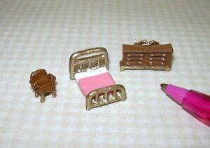 Miniature Tiny 1:144 MASTER Bedroom Set for Dollhouse's Dollhouse Miniatures
