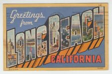 [67263] 1954 LARGE LETTER POSTCARD GREETINGS from LONG BEACH, CALIFORNIA