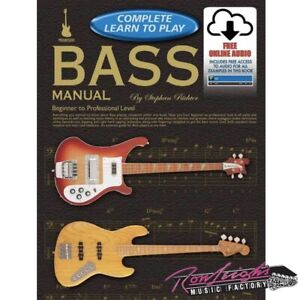 Progressive Complete Learn to Play Bass Manual Book with Online Audio