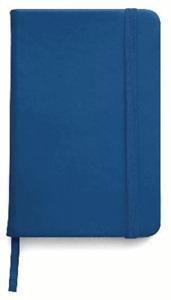 BLOCK NOTES,QUADERNO APPUNTI,rigido 100 pag f.to a6,x borsa-tascabile BLU