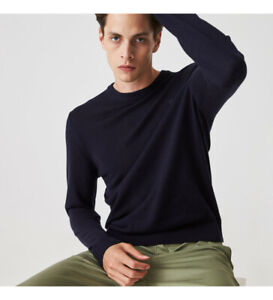 LACOSTE Crewneck Shirt Man Wool Shaved Art. AH1969 - 2 Colours (Blue & Blue)