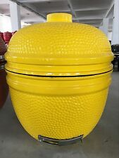 "YNNI 25"" Bespoke Yellow Kamado Grill Egg Inc. Stainless Steel Fittings  TQ0025YL"