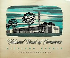 National Bank of Commerce Richland Washington Branch Brochure 1950