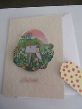 HANDMADE NEW HOME  CARD CARD  WITH GIFT TAG