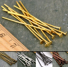 100 pcs Wholesale Silver Golden Head Pins Finding Gauge any size to choose