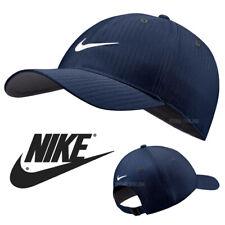 NEW Nike SWOOSH BASEBALL CAP PLAIN NAVY GOLF LEGACY 91 TECH GYM FITTED PEAK HAT