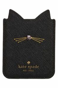 Kate Spade NY 256586 Black Cat Phone Sticker Pocket 2.5x3 Fits Most iPhones
