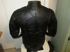 Men's Soft Leather Motorcycle Jacket Cross-Bone Skull on the Back