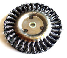 """CALHAWK 6"""" COARSE KNOTTED WIRE WHEEL FOR BENCH GRINDER"""