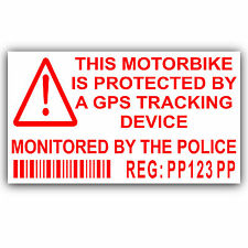 Motorbike Security Stickers-Alarm,GPS,Tracker Device -Motorcycle Bike Warning